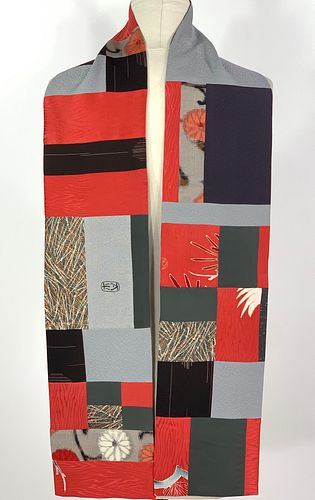 Coral and Pewter Scarf
