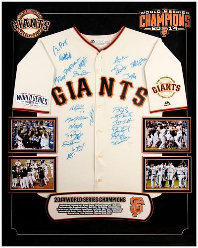 San Francisco Giants 2014 World Series Champions Team Signed Jersey