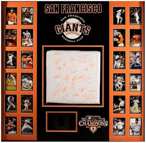 San Francisco Giants 2010 World Series Champions Team Signed Base
