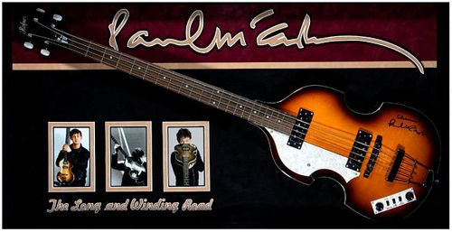 Paul McCartney signed guitar