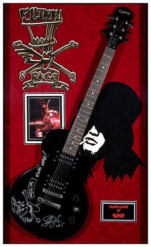Slash signed guitar.