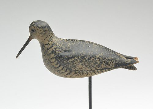 Very rare willet, William Bowman, Lawrence, Long Island, last quarter 19th century.