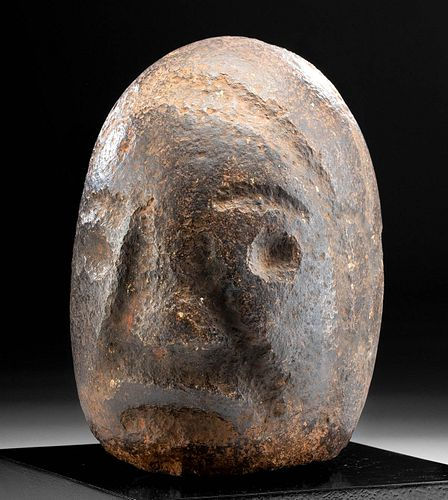 Rare & Large Pukara Stone Janiform Head