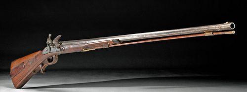 Mid-18th C. Austrian / German Jaeger Flintlock Rifle