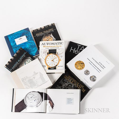 Nine Watch-related Reference Books, F.P. Journe, Invenit et Fecit; Tissot: 150 Years of History; Longines Watch Movements (1832-2007) A