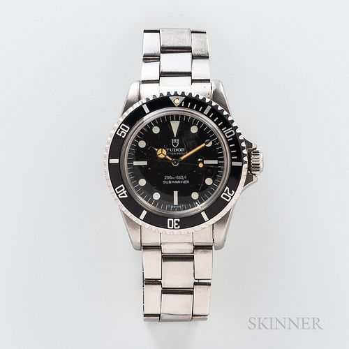 Tudor Submariner Reference 7928 Wristwatch, c. 1966, stainless steel case with bidirectional bezel, Tudor Oyster Prince/Submariner repl