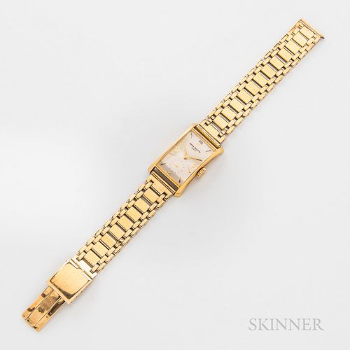 Patek Philippe 18kt Gold Sigma Dial Reference 2468 Wristwatch, c. 1950s, silvered dial with applied numerals, and hour markers, subsidi