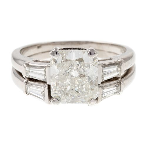 A GIA 2.08ct Radiant Cut Diamond Ring in Platinum