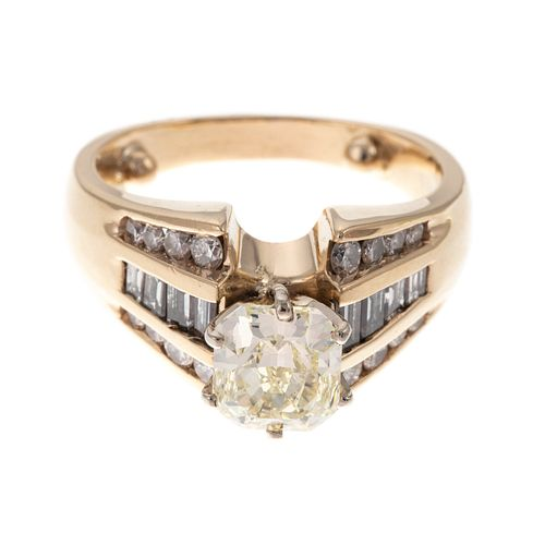 A GIA 1.50 ct Fancy Light Yellow Diamond Ring