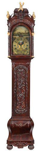 Dutch Rococo Automaton Tall Case Clock