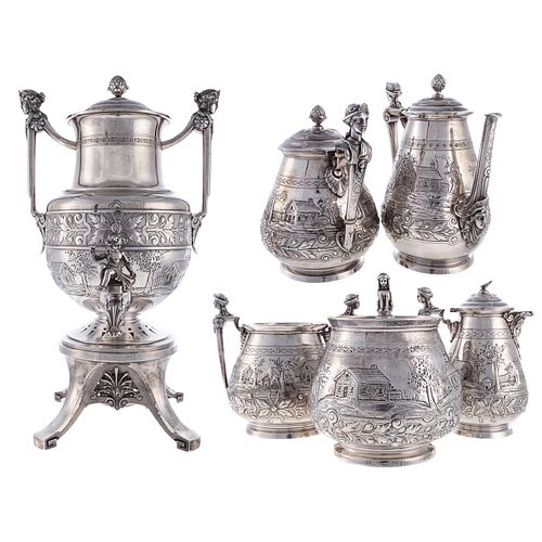 Ball, Black & Co. Sterling Tea & Coffee Service
