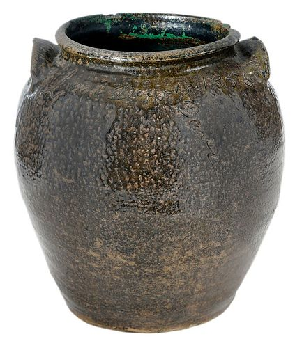 Important Dave Drake Signed and Dated Stoneware Jar