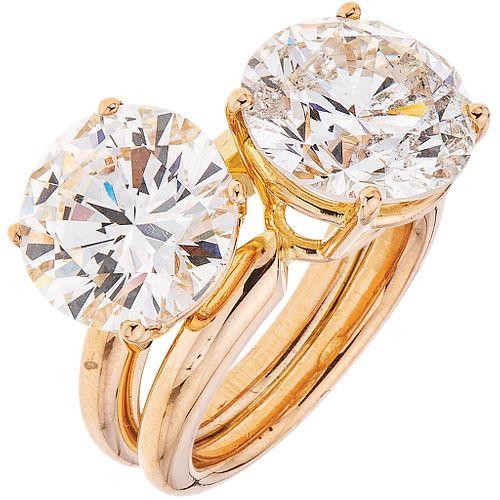 DIAMONDS RING. 18K PINK GOLD