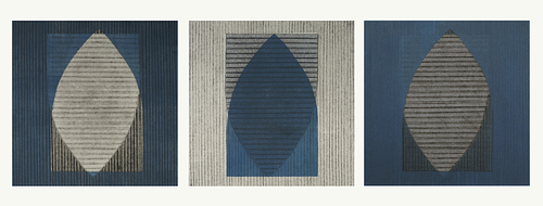 CHRISTIANE CORCELLE, Continuing Ed - Abstract Blue 1, 2 & 3
