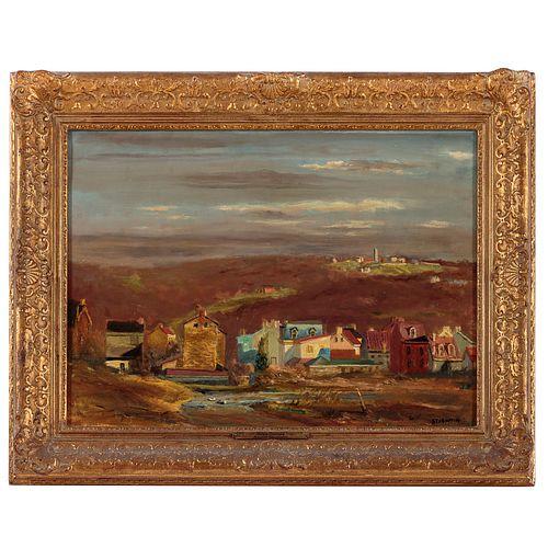 Walter Stuempfig. Pastoral Scene, oil on canvas