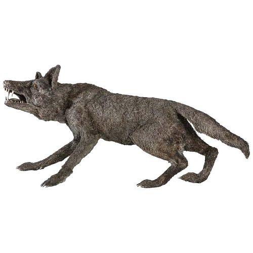 Mario Buccellati a Rare and Exceptional Nearly Life-Size Silver Wolf, circa 1970