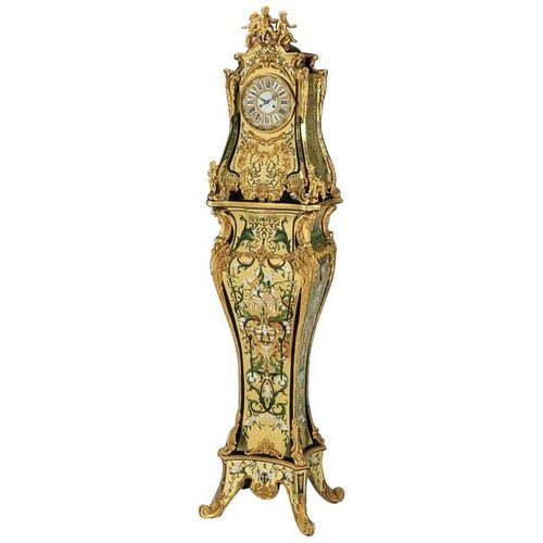 Rare and Important French Louis XIV Gilt-Bronze Mounted Boulle Marquetry Clock