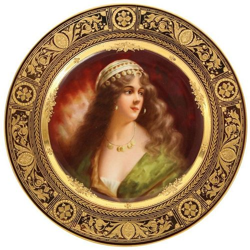 """A Rare and Exceptional Royal Vienna Porcelain Plate of """"""""Yessida"""""""" by Wagner"""