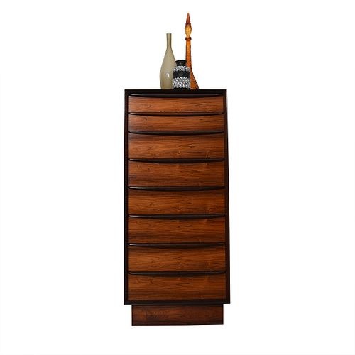 Super Slim & Tall Rosewood Chest of Drawers