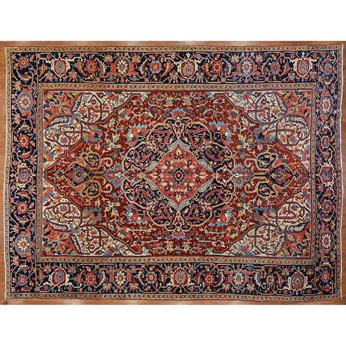 Semi-Antique Heriz Carpet, Persia, 9.5 x 12.4