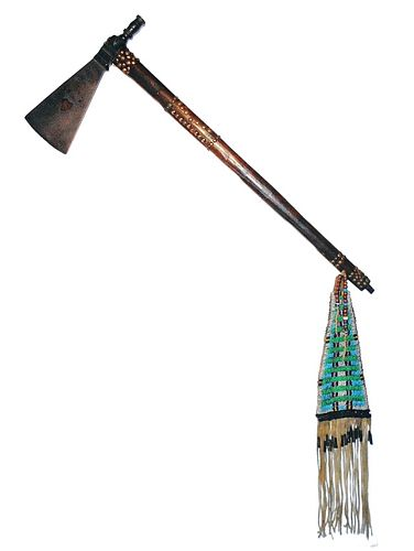 Northern Cheyenne Pipe Tomahawk Beaded Drop c.1880