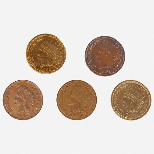 Twenty U.S. Indian Head 1C Coins