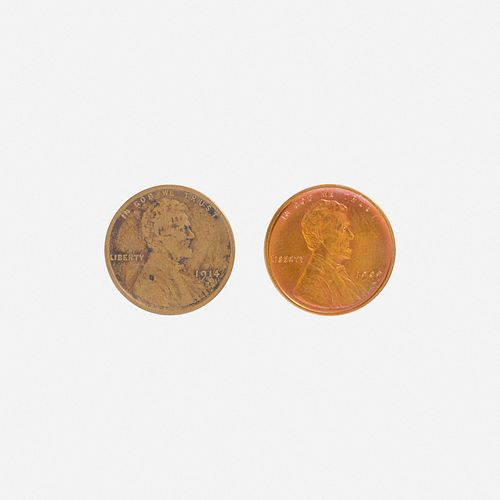 Group of Ninety U.S. 1C Coins