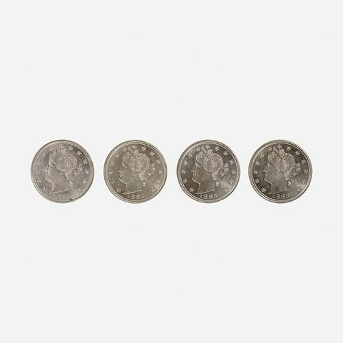 Four U.S. 1883 5C Coins