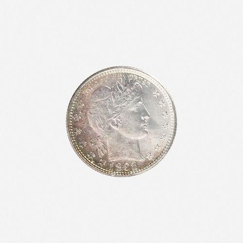U.S. 1892 Barber 25C Coin