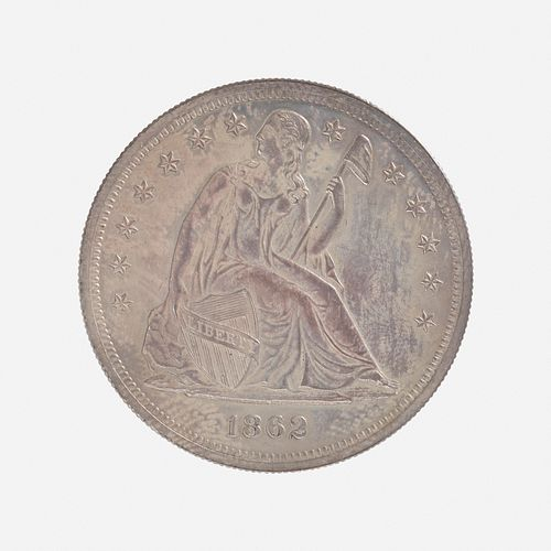 U.S. 1862 Proof Seated Liberty $1 Coin