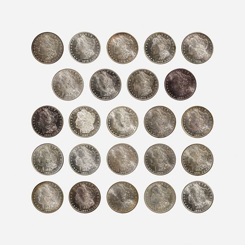 Twenty-four U.S. Morgan $1 Coins
