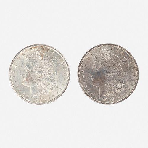 Forty-seven U.S. Morgan $1 Coins