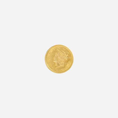 U.S. 1849 Liberty $1 Gold Coin