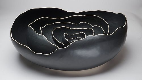Large Oval Black Nesting Bowls