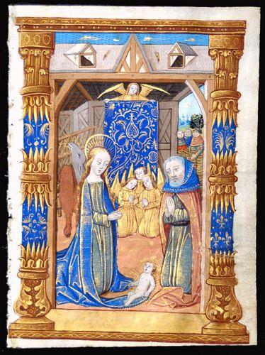 Book of Hours Leaf, circa 1490-1510 - The Nativity