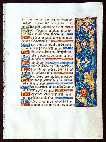 Book of Hours Leaf, circa 1490-1510 - Elaborate borders - Rouen