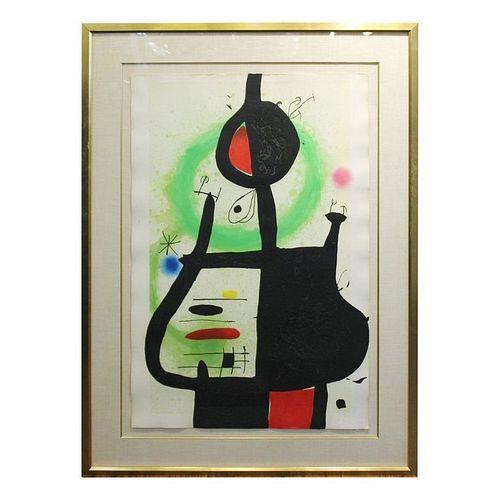"""Joan Miro """"La Sorciere"""" Etching & Aquatint"""