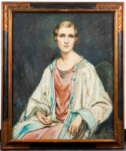 Albert Sterner Portrait of a Woman Pastel on Paper