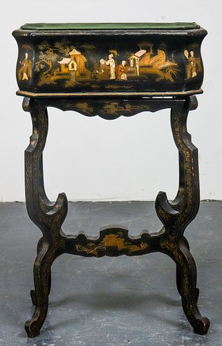Chinese Export Lacquered Planter on Base