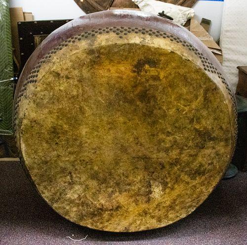 Monumental Hardwood Taiko or Tanggu Drum