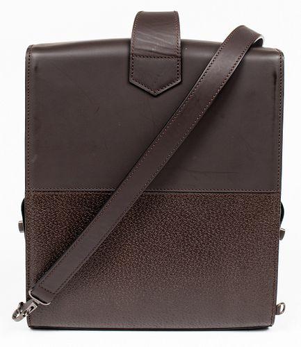 Davide Cenci Brown Leather Backpack