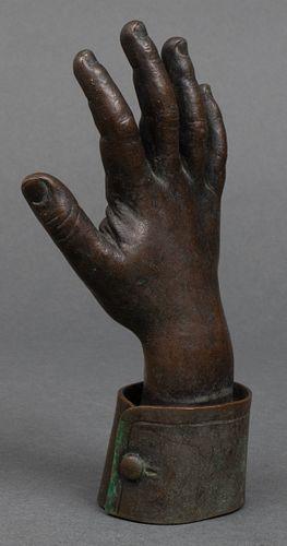 Waving Hand Bronze Sculpture