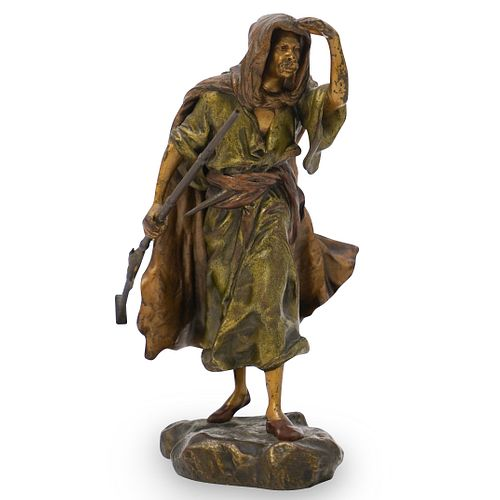 Franz Bergman Bronze Hunter Statue