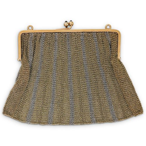 French 18k Gold Antique Mesh Purse
