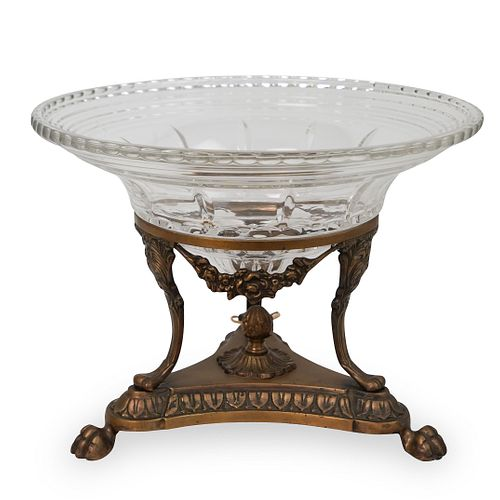Crystal and Bronze Centerpiece