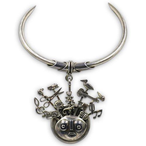Vintage Sterling Silver Choker Necklace