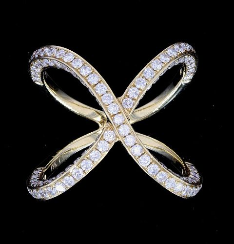 Beautiful Infinity 18K Ring w/ 3.87ct. of Diamonds