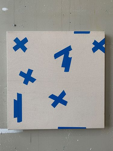 CODY JUSTUS, MFA 14 - Tape painting #1