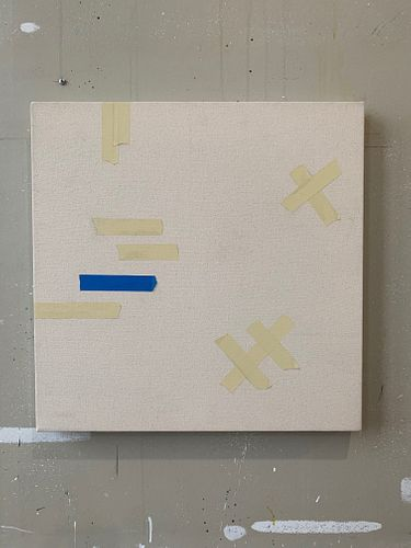 CODY JUSTUS, MFA 14 - Tape painting #2