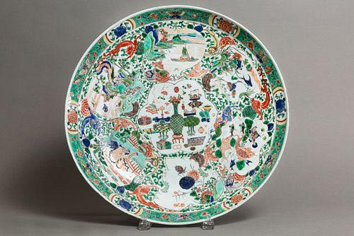 Large Famille Verte Plate - Kangxi Period